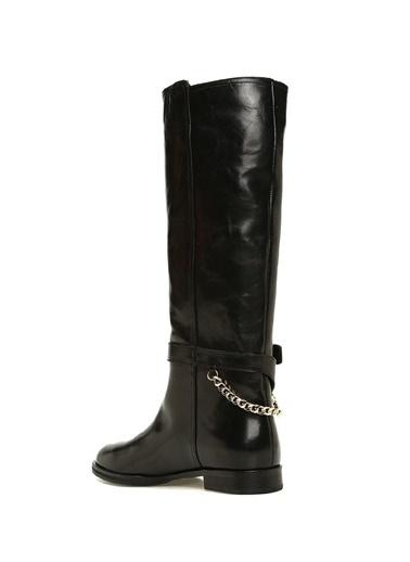 Beymen Collection Deri Çizme Siyah